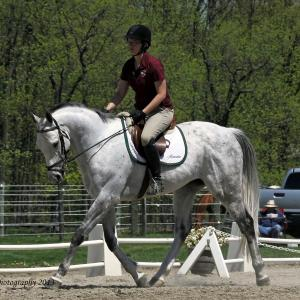 Finnigan and April competing at South Farm, May 2013